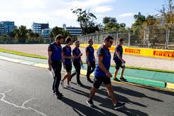 Le trackwalk avec Pierre Gasly, Scuderia Toro Rosso