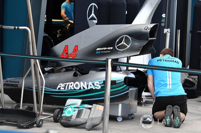 Carrocería del Mercedes-AMG F1 W09