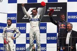 Podium: race winner Robert Kubica, BMW Sauber F1, Nick Heidfeld, BMW Sauber F1, third place David Co