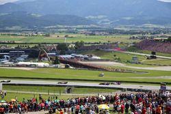 Pierre Gasly, Scuderia Toro Rosso STR13 and Charles Leclerc, Sauber C37