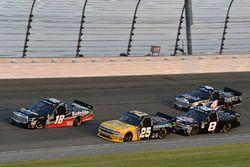 Noah Gragson, Kyle Busch Motorsports, Toyota Tundra Safelite AutoGlass and Dalton Sargeant, GMS Racing, Chevrolet Silverado Performance Plus Motor Oil