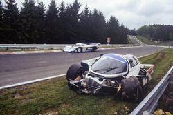 Derek Bell, Stefan Bellof, Porsche 956, kaza