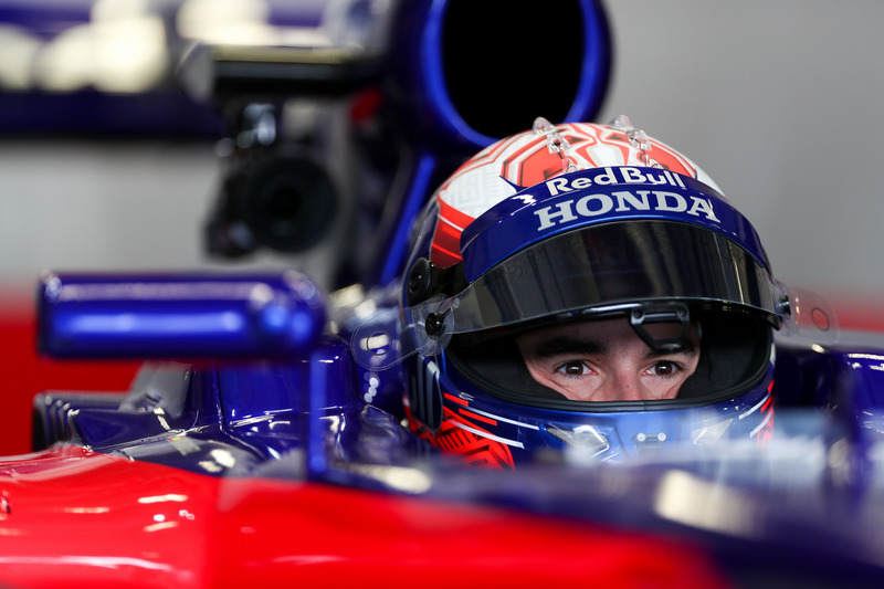 Marc Marquez, tests the Toro Rosso F1 car