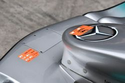Mercedes-Benz F1 W08, dettaglio del naso