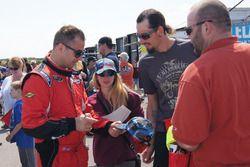 Brett Taylor signs autographs