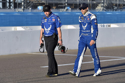 Aric Almirola, Richard Petty Motorsports Ford and Drew Blickensderfer