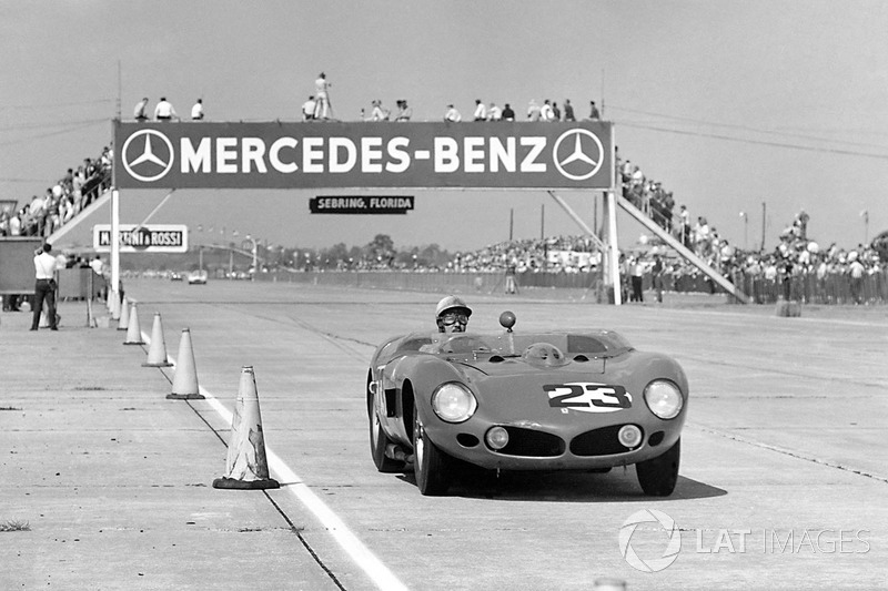 Jo Bonnier Ferrari 250 Tr At 12 Hours Of Sebring High Res