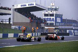 Ayrton Senna, McLaren MP4/8 ve Damon Hill, Williams FW15C