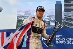 Podium: race winner, Sam Bird, DS Virgin Racing