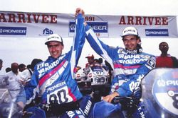 Winner Stéphane Peterhansel, Yamaha, second place Thierry Magnaldi, Yamaha