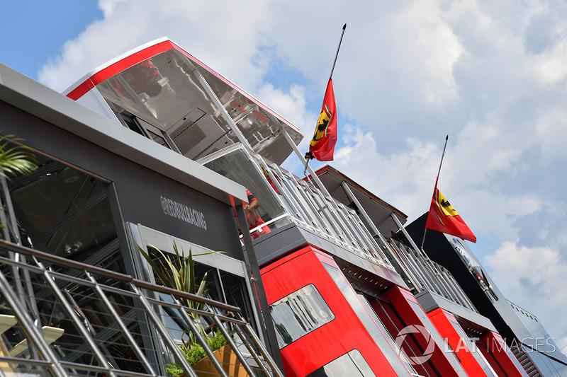 Ferrari flags at half mast