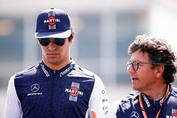 Lance Stroll, Williams Racing, con Luca Baldisserri, Williams F1