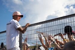 Lewis Hamilton, Mercedes AMG F1, spotkanie z kibicami