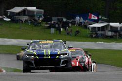 #1 Blackdog Speed Shop Chevrolet Camaro GT4: Lawson Aschenbach, #50 Team Panoz Racing Panoz Avezzano GT4: Ian James