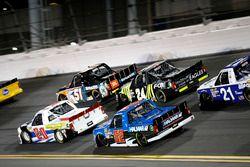Spencer Davis, Kyle Busch Motorsports Toyota Tundra, Justin Haley, GMS Racing Chevrolet Silverado, S