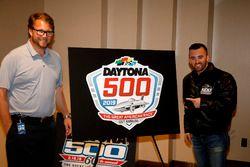 Chip Wile, President Daytona International Speedway met Austin Dillon, Richard Childress Racing Chev