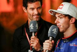 Mark Webber, Channel 4 F1 y Pierre Gasly, Toro Rosso