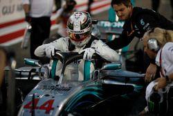 Lewis Hamilton, Mercedes-AMG F1 W09 EQ Power+, sur la grille