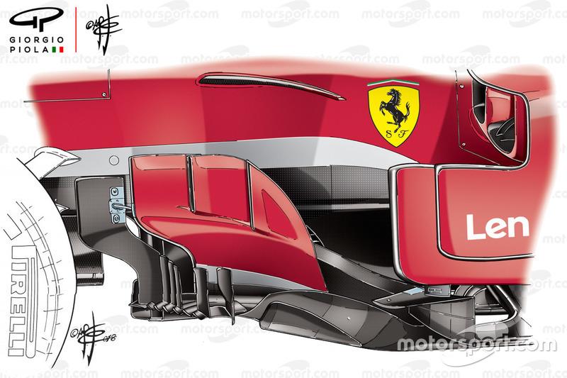 Ferrari SF71H bargeboard