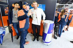 Lukas Podolski in the Red Bull KTM Factory Racing garage