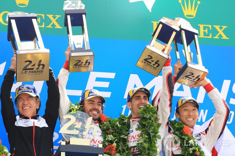24 Horas de Le Mans 2018 (el WEC no acaba hasta 2019): Sébastien Buemi, Kazuki Nakajima, Fernando Alonso