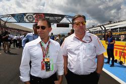 Zak Brown, McLaren Racing CEO on the grid