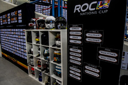 The drivers helmets and competition group tables