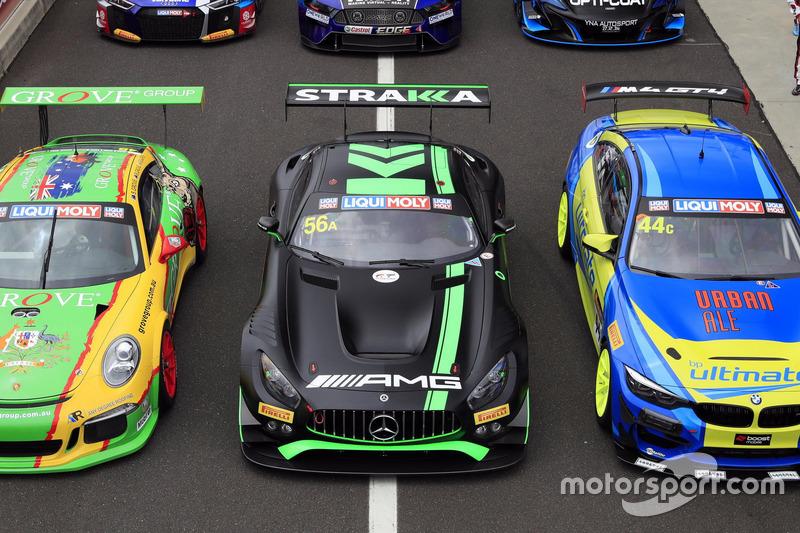 #56 Mercedes-AMG Team Strakka Racing Mercedes AMG GT GT3: Maximilian Buhk, Maximilian Götz, Alvaro P