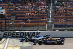 Takuma Sato, Rahal Letterman Lanigan Racing Honda, Alexander Rossi, Andretti Autosport Honda