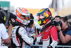 Race winner Anthoine Hubert, ART Grand Prix, third place Callum Ilott, ART Grand Prix