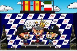 El podio del GP de las Américas de MotoGP 2018, por MiniBikers