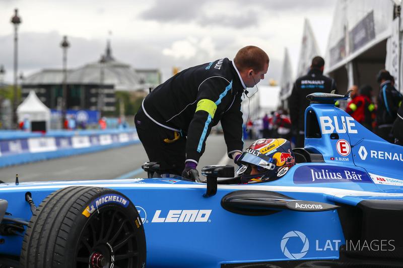 Sébastien Buemi, Renault e.Dams, ritorna nel garage