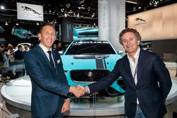 Alejandro Agag, CEO, Formula E, James Barclay Team Director Jaguar Racing