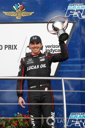 Robert Wickens, Schmidt Peterson Motorsports Honda, podium