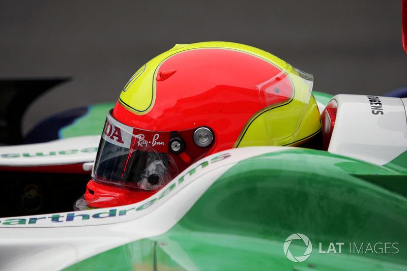 Rubens Barrichello, Honda RA108 met helmdesign met eerbetoon aan Ingo Hoffmann