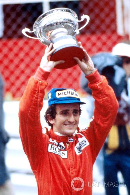 Race winner Alain Prost, McLaren