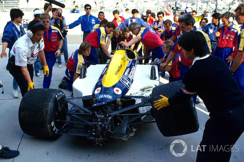 После аварии: Williams FW11B Найджела Мэнселла