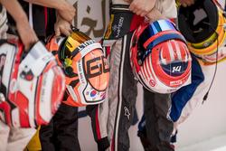 Helmets of Jack Aitken, ART Grand Prix, Santino Ferrucci, Trident