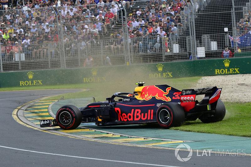 Max Verstappen, Red Bull Racing RB14 gira
