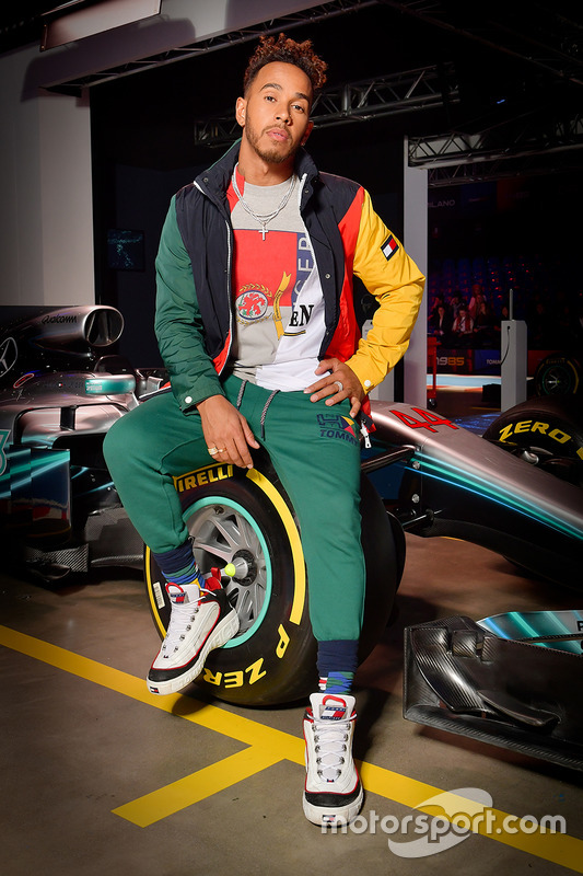 18740d8a Lewis Hamilton, Mercedes AMG F1 at Tommy Hilfiger Mercedes partnership