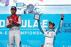 Daniel Abt, Audi Sport ABT Schaeffler, festeggia con Sébastien Buemi, Renault e.Dams, sul podio