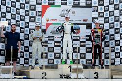 Podium: Race winner David Schumacher, Rasgaira Motorsports, second place Caio Collet, SILBERPFEIL Energy Dubai, third place Charles Weerts, Dragon Motopark F4