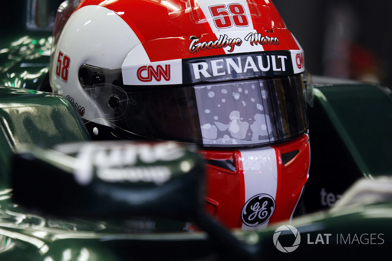Jarno Trulli with special helmet design paying tribute to Marco Simoncelli