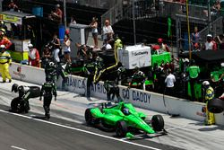Danica Patrick, Ed Carpenter Racing Chevrolet, pit stop