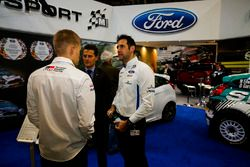 WRC drivers and Matthew Wilson, near the M-Sport stage