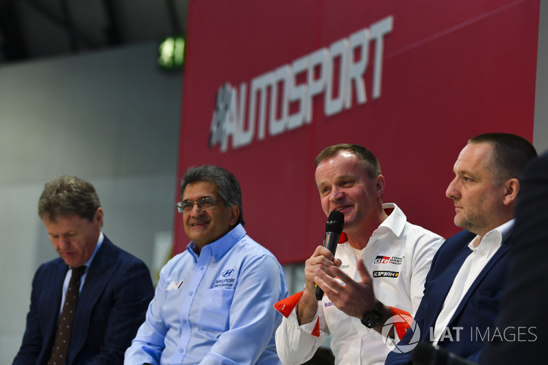 Malcolm Wilson, Michel Nandan, Tommi Makinen and Yves Matton talk to Henry Hope-Frost on the Autospo