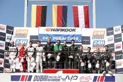 Podium: Race winner #2 Black Falcon Mercedes-AMG GT3: Abdulaziz Al Faisal, Hubert Haupt, Yelmer Buur