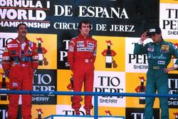 Podium: 1. Alain Prost, McLaren; 2. Nigel Mansell, Williams; 3. Alessandro Nannini, Benetton