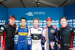 Top 5 Drivers in Qualifying: Stéphane Sarrazin, Venturi, Nicolas Prost, Renault e.Dams, Sam Bird, DS