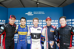 Top 5 Drivers in Qualifying: Stéphane Sarrazin, Venturi, Nicolas Prost, Renault e.Dams, Sam Bird, DS